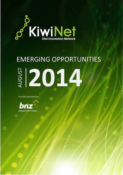 KiwiNet Emerging Opportunities August 2014