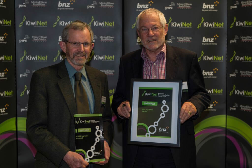 KiwiNet Research Commercialisation Awards 2015 winners announced