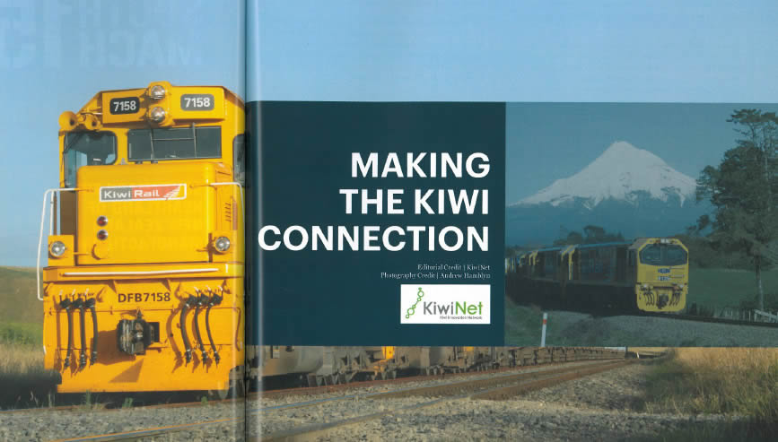 Researchers rise to meet the KiwiRail business challenge Making the Kiwi Connection - KiwiRail story from EMEX show magazine